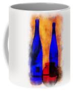 Blue Bottles Photo Art Coffee Mug
