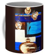 Blue Buds Floral Coffee Mug