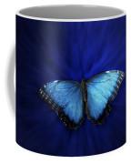 Blue Butterfly Ascending 02 Coffee Mug