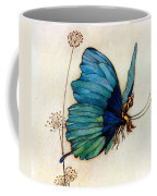 Blue Butterfly II Coffee Mug by Warwick Goble