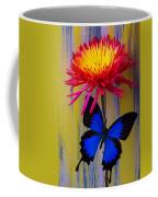 Blue Butterfly On Fire Mum Coffee Mug