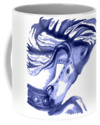 Blue Carrousel Horse Coffee Mug