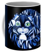 Blue Cat Green Eyes Coffee Mug