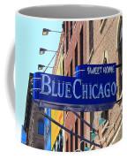 Blue Chicago Club Coffee Mug