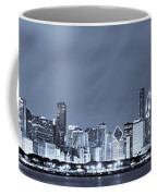 Blue Chicago Skyline Coffee Mug
