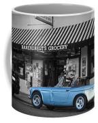 Blue Classic Car In Jamestown Coffee Mug by RicardMN Photography