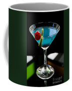 Blue Cocktail With Cherry And Lime Coffee Mug