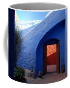 Blue Courtyard Coffee Mug