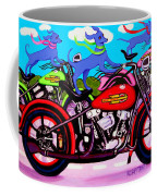 Blue Dogs On Motorcycles - Dawgs On Hawgs Coffee Mug