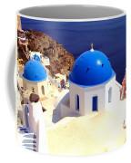 Blue Domes In Santorini Coffee Mug