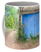 Blue Doors And Yellow Flowers Coffee Mug