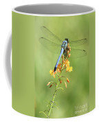 Blue Dragonfly On Yellow Flower Coffee Mug