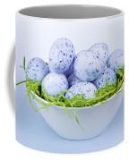 Blue Easter Eggs In Bowl Coffee Mug