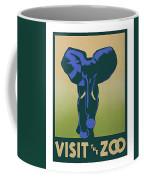 Blue Elephant Visit The Zoo Coffee Mug