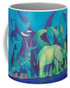 Blue Elephants Coffee Mug