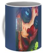 Blue Eyed Skull Coffee Mug