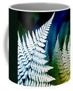 Blue Fern Leaf Art Coffee Mug