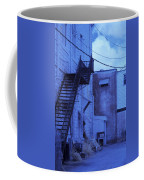 Blue Fire Escape Usa Near Infrared Coffee Mug