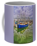 Blue Fishing Boat Hdr Coffee Mug
