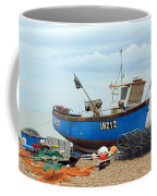 Blue Fishing Boat Coffee Mug