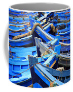 Blue Fishing Boats Coffee Mug
