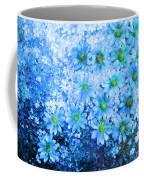 Blue Floral Fantasy Coffee Mug