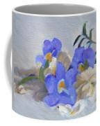 Blue Flower Still Life Coffee Mug
