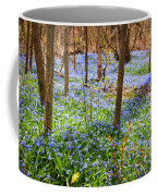 Blue Flowers In Spring Forest Coffee Mug