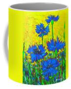 Blue Flowers - Wild Cornflowers In Sunlight  Coffee Mug