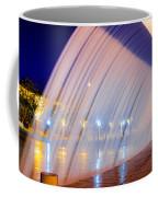 Blue Fountain At Night Coffee Mug