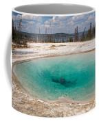 Blue Funnel Spring In West Thumb Geyser Basin Coffee Mug
