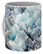 Blue Glacier Ice Background Texture Pattern Coffee Mug