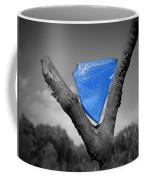 Blue Glass Art Coffee Mug