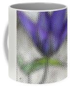 Blue Glass Flower Coffee Mug