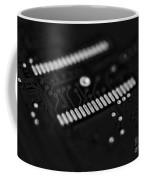 Blue Hard Drive Low Key Coffee Mug
