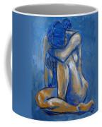 Blue Heart - Female Nude Coffee Mug