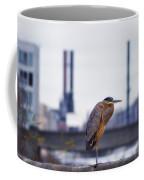 Blue Heron In Manayunk Coffee Mug