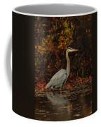 Blue Heron In The Fall Coffee Mug