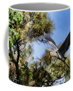 Blue Heron In The Trees Oil Coffee Mug