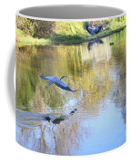 Blue Herons On Golden Pond Coffee Mug