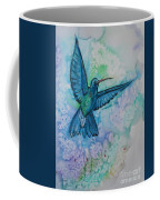 Blue Hummingbird In Flight Coffee Mug
