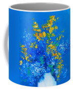 Blue Hydrangeas And Golden Chain Flowers Coffee Mug