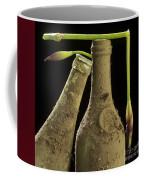 Blue Iris And Old Bottles Coffee Mug