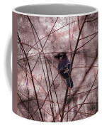 Blue Jay In The Willow Coffee Mug