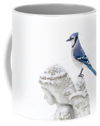 Blue Jay On An Angel Coffee Mug