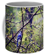 Blue Jay - Paint Effect Coffee Mug