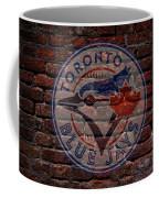 Blue Jays Baseball Graffiti On Brick  Coffee Mug by Movie Poster Prints