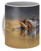 Blue Love ... Mating Moor Frogs  Coffee Mug