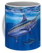 Blue Marlin Bite Off001 Coffee Mug