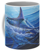 Blue Marlin Strike Off0053 Coffee Mug by Carey Chen